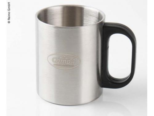 Tasse à café en acier inoxydable 0,3l avec poignée plastique