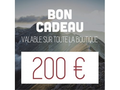 Bon d'achat de 200€ CAMPERWOOD