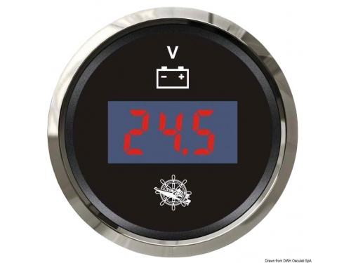 Voltmètre ELEGANT numérique 8/32 V noir/polie