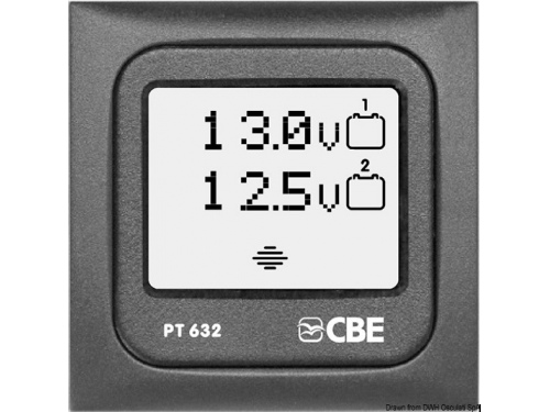 Panneau de contrôle voltmètre numérique CBE PT 632.