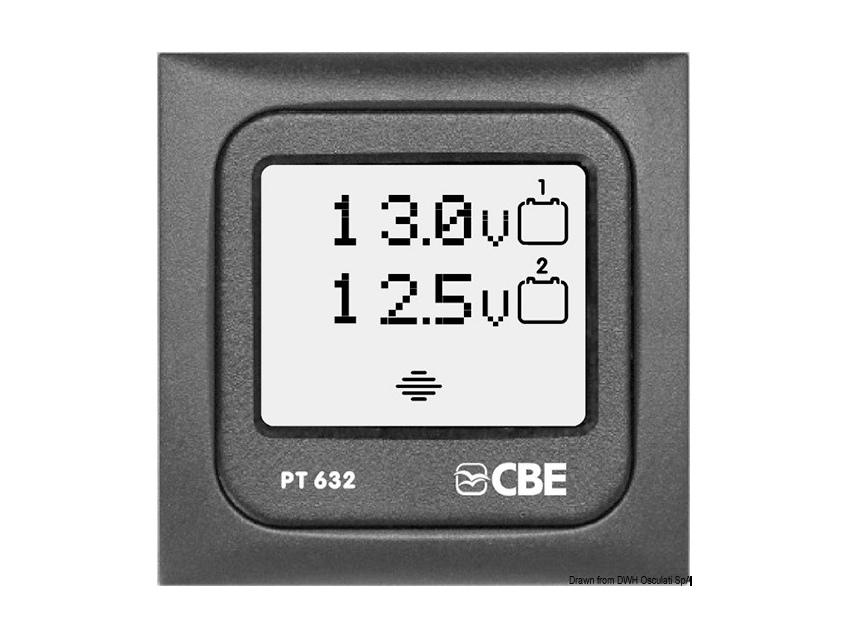 Panneau de contrôle voltmètre numérique.