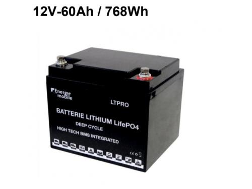 60Ah BATTERIES LITHIUM LT PRO LIFEPO4 ENERGIE MOBILE
