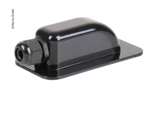 Passe-toit noir simple pour 1 câble solaire