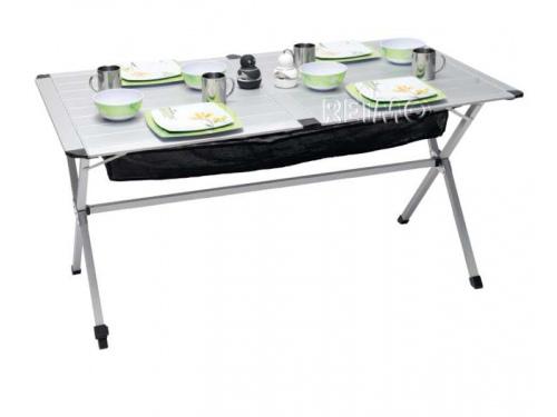 Table en aluminium enroulable