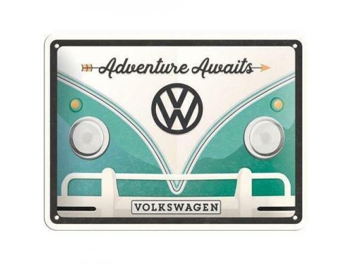Plaque émaillée 15X20 cm. Collection Volkswagen Adventure Awaits