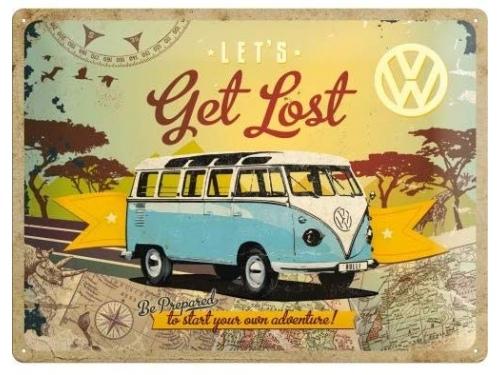 Plaque émaillée 40 X 60 cm. Collection Volkswagen Get Lost