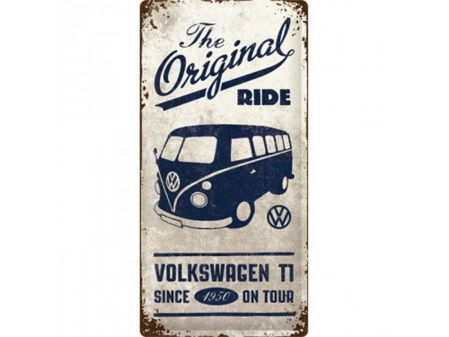Plaque émaillée 50 X 25 cm. Collection Volkswagen Original Ride.