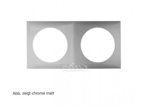 Cadre de finition double chrome brillant