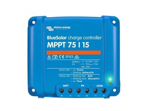 RÉGULATEUR SOLAIRE BLUESOLAR MPPT 75/15 - 12/24V VICTRON ENERGY