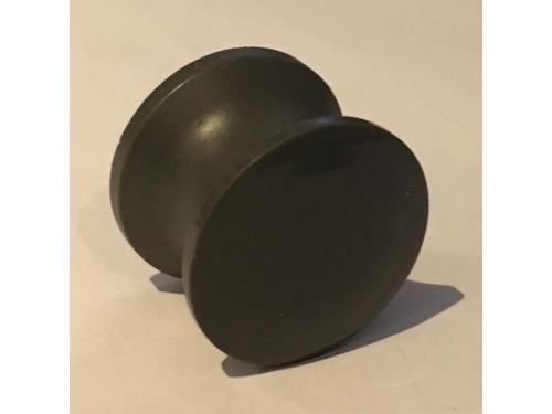 Bouton push lock plastique gris foncé
