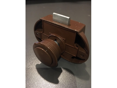 Push lock marron 19 mm