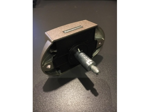 Serrure poussoir zamak nickel type push-lock