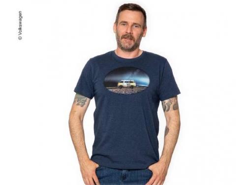 T-shirt Homme bleu foncé VW  Taille S