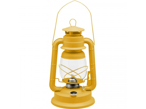 Lampe tempête transportable jaune