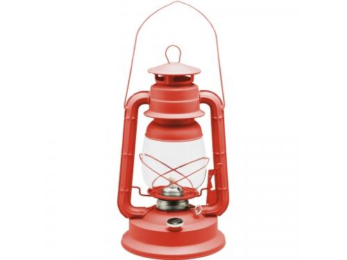 Lampe tempête transportable rouge