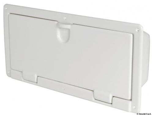 Niche fourre-tout ABS blanc poli 540 x 244 x 116 mm