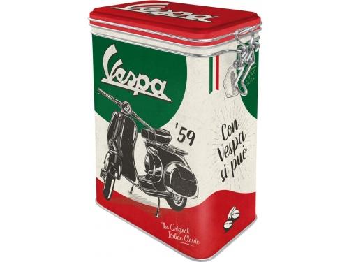 Boite à clips Nostalgic Art. Collection Vespa The Italian Classic