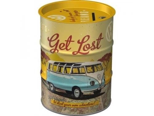 Tirelire Baril en métal collection Volkswagen Let's get lost