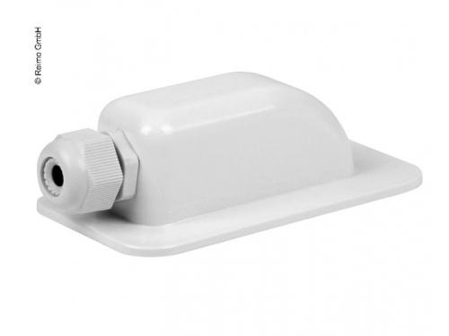 Passe-toit blanc simple pour 1 câble solaire