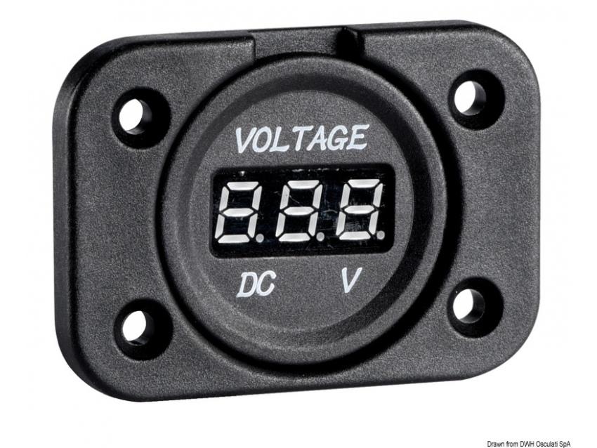 Voltmètre numérique 8/32 V à encastrer