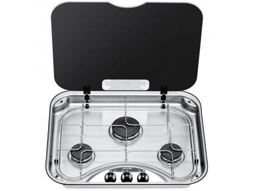 Plaque de cuisson Thetford série 33 Rectangulaire avec couvercle en verre