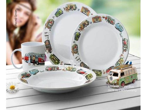 Set de vaisselle en mélamine Volkswagen 8 pièces