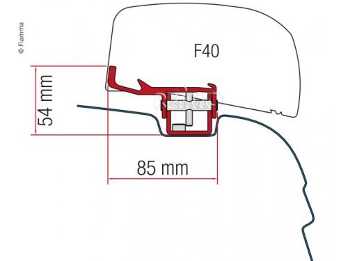 F40. Kit de fixation pour store de toit Fiamma F40