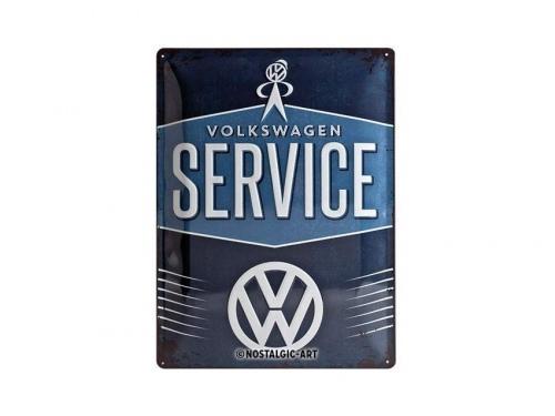 Plaque émaillée 15X20cm. Collection Volkswagen Service
