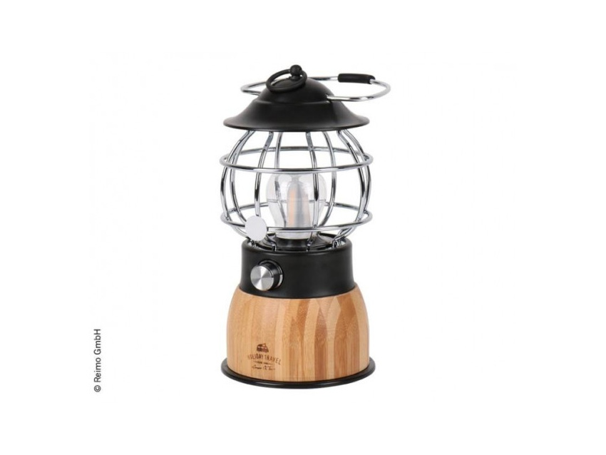 Lampe de camping à LED bambou HOLIDAY TRAVEL
