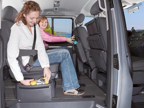 MULTIBOX Carry Bag pour tous les VW T6/T5, design Noir Titane en cuir