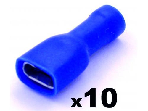Cosse clip électrique femelle 6,3mm isolée