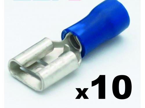 Cosse clip électrique ROUGE femelle 6,3mm