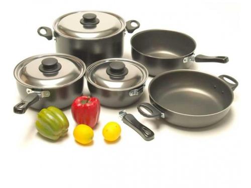 Set de casseroles de camping 9 pièces