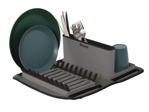 Egouttoir à vaisselle pliable + tapis microfibre