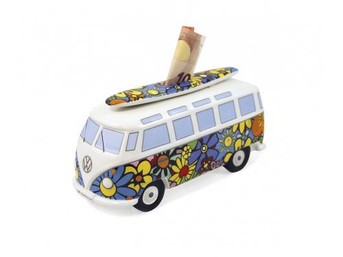 Tirelire en céramique FLOWER Volkswagen T1