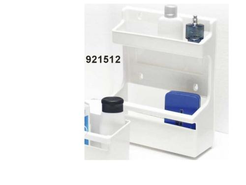 Étagère universelle en plastique blanc 370x280x370