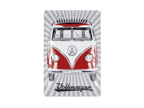 Plaque émaillée 20 x 30 cm. Collection Volkswagen SAMBA