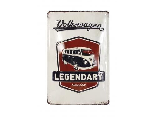 Plaque émaillée 20 x 30 cm. Collection Volkswagen LEGENDAIRE