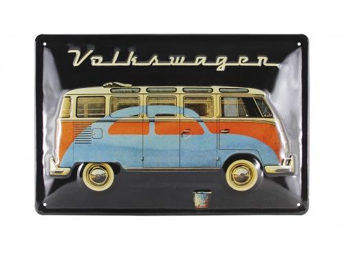 Plaque émaillée 20 x 30 cm. Collection Volkswagen SAMBA & BEETLE