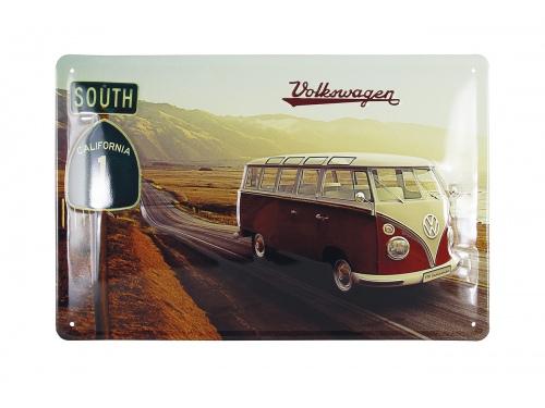Plaque émaillée 20 x 30 cm. Collection Volkswagen HIGHWAY