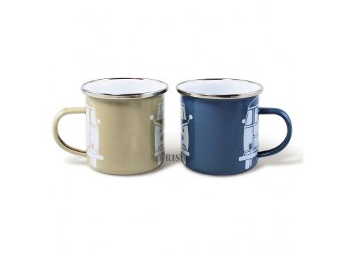 Lot de 2 Mugs émaillés Volkswagen Collection BLEU & GRIS