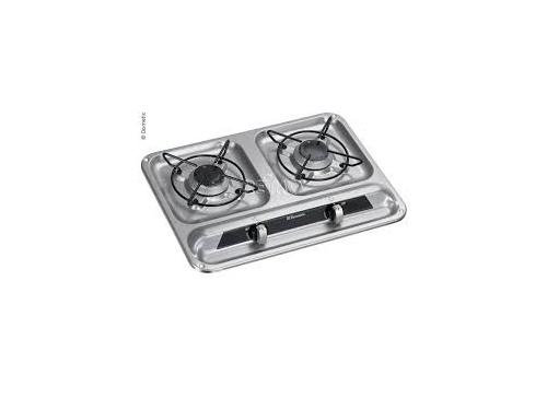 Cuisinière à gaz 2 feux DOMETIC en inox