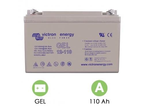 BATTERIE DÉCHARGE LENTE VICTRON ENERGY GEL 12V 110AH