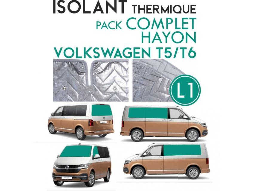 8 Pièces. Hayon. L1H1.ISOLANT OCCULTANT THERMIQUE ALUMINIUM VOLKSWAGEN TRANSPORTER T5 T6.