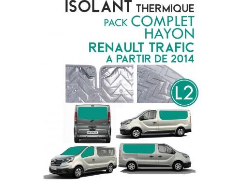 8 Pièces. Hayon. L2H1.ISOLANT OCCULTANT THERMIQUE ALUMINIUM RENAULT TRAFIC à partir de 2014
