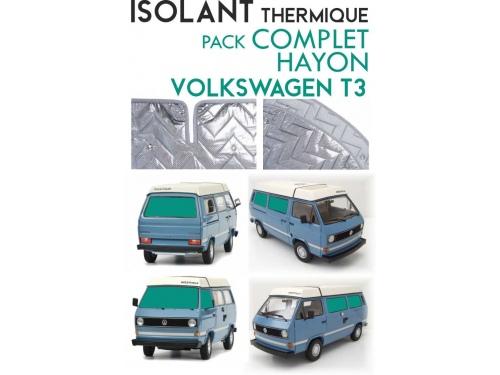 8 Pièces. T3 .ISOLANT OCCULTANT THERMIQUE ALUMINIUM VOLKSWAGEN TRANSPORTER T3