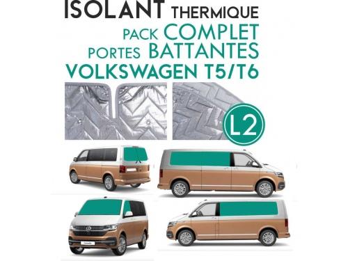 9 Pièces. Portes battantes. L2H1.ISOLANT OCCULTANT THERMIQUE ALUMINIUM VOLKSWAGEN TRANSPORTER T5 T6.
