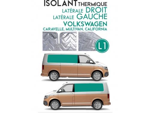 Isolant thermique alu Volkswagen Caravelle, Multivan, California Espace arrière empattement court