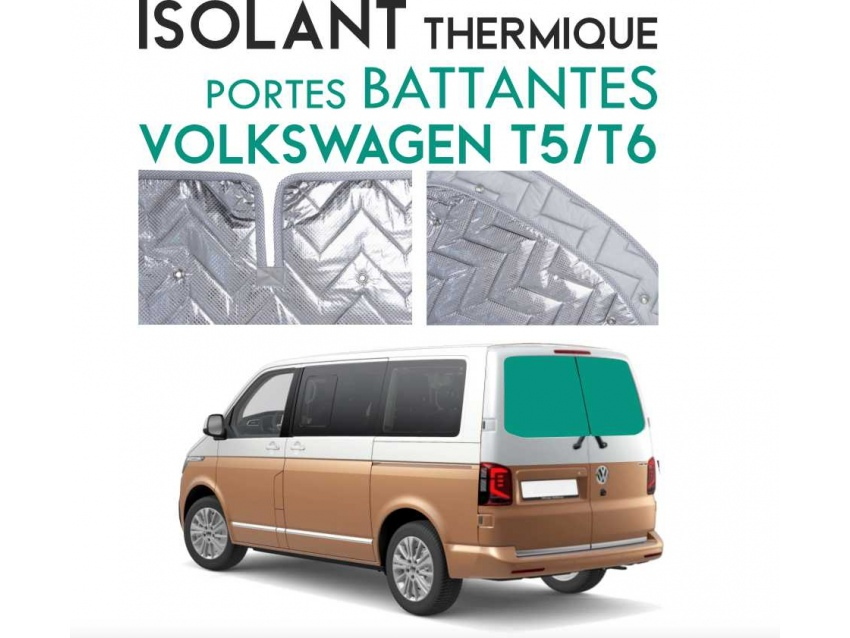 Isolant thermique alu Volkswagen T5 - T6 Portes battantes arrières