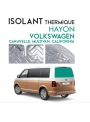 Isolant thermique Hayon alu Volkswagen Caravelle, California